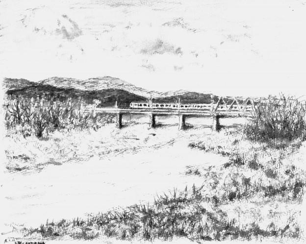 多摩川五日市線鉄橋