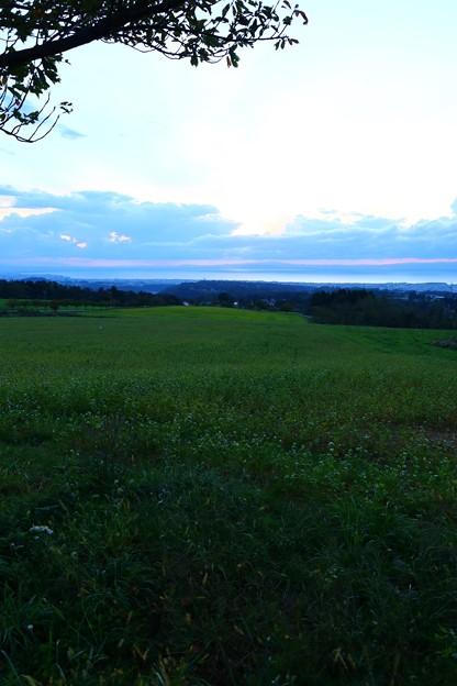 牧場の夕焼け