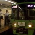 京王線新宿駅3番線 緑の京王線準特急高尾山口行き乗務員交代