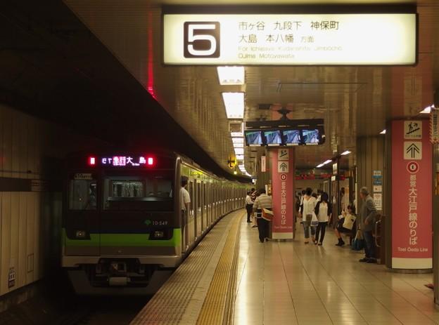 都営新宿線新宿駅5番線 都営10-540F急行大島行き後追い