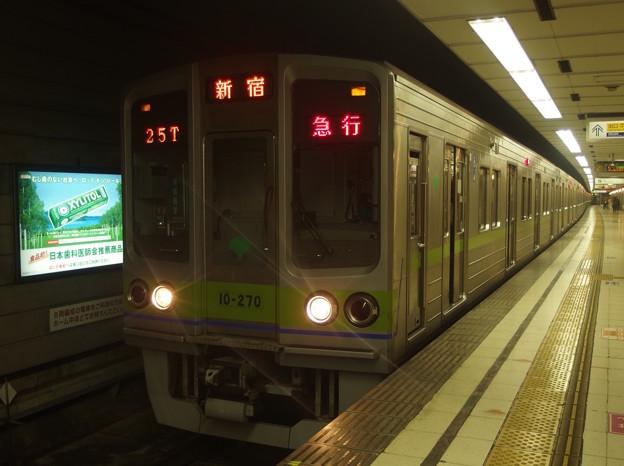 京王新線初台駅2番線 都営10-270F急行新線新宿行き