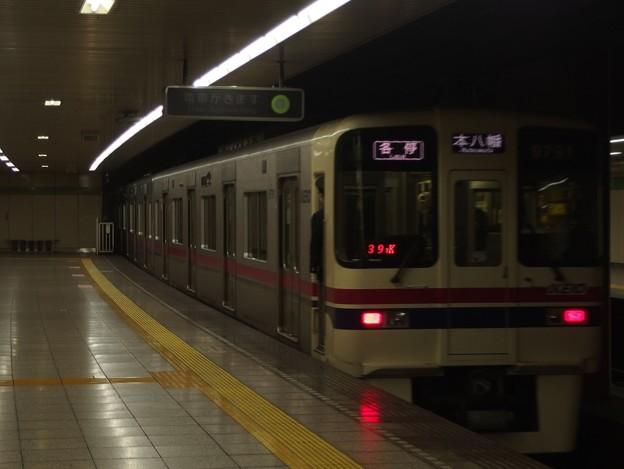 都営新宿線曙橋駅2番線 京王9041各停本八幡行き前方確認