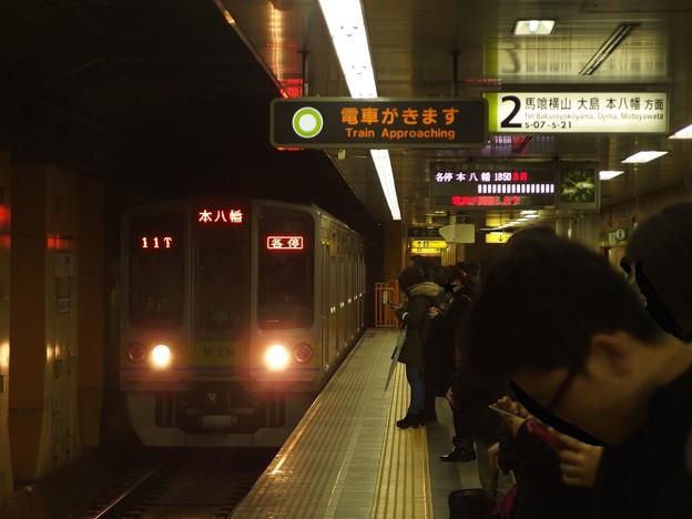都営新宿線神保町駅2番線 都営10-270F各停本八幡行き進入