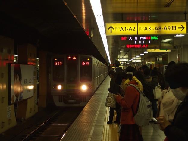 都営新宿線神保町駅2番線 都営10-270F急行大島行き進入