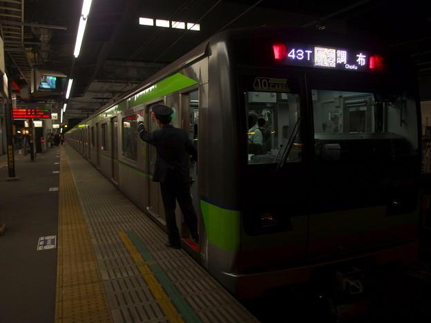 京王線桜上水駅2番線 都営10-600F区急調布行き側面よし