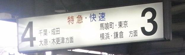 Photos: 総武快速線錦糸町駅 懐かしい方面表示