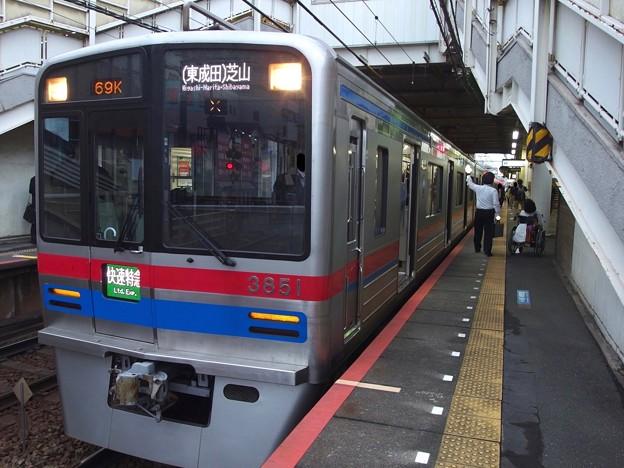 京成押上線立石駅2番線 京成3851F快速特急芝山千代田行き(2)