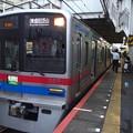 京成押上線立石駅2番線 京成3858F快速特急芝山千代田行き(2)