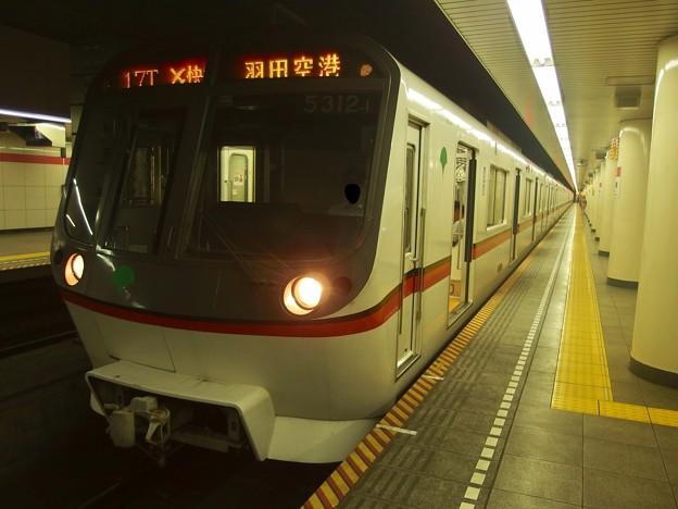 都営浅草線日本橋駅1番線 都営5312Fエアポート快特羽田空港行き