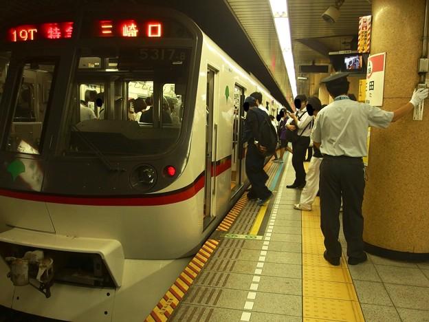 都営浅草線三田駅1番線 都営5317F特急三崎口行きベル扱い