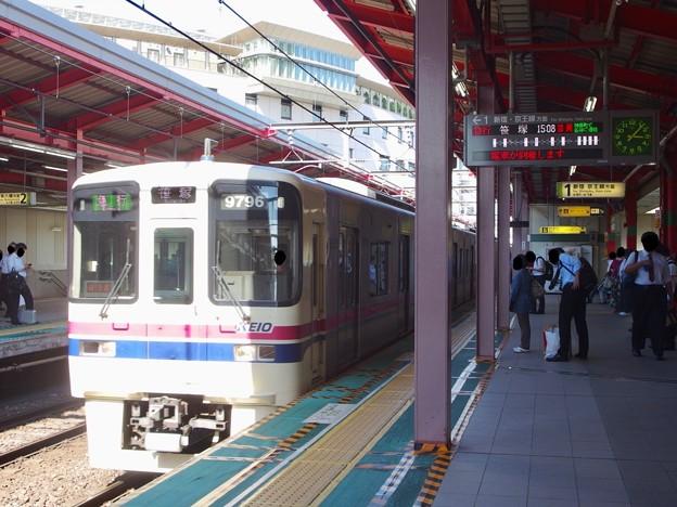 都営新宿線船堀駅1番線 京王9046急行笹塚行き進入