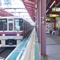 Photos: 都営新宿線船堀駅2番線 京王9032急行本八幡行き進入