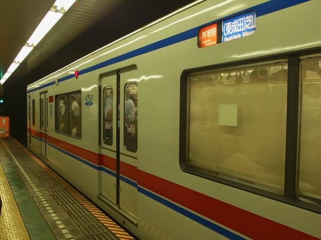 都営浅草線東日本橋駅2番線 京成3408Fエアポート快特芝山千代田行き(2)