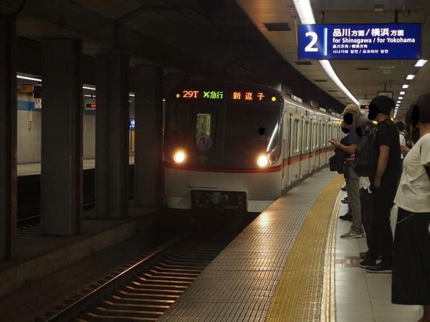 京急線大鳥居駅2番線 都営5311Fエアポート急行新逗子行き進入