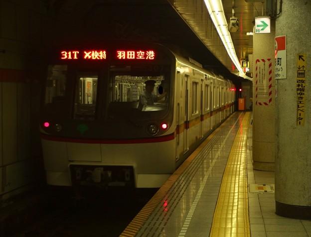 都営浅草線駅3番線 都営5307Fエアポート快特羽田空港行き後方確認