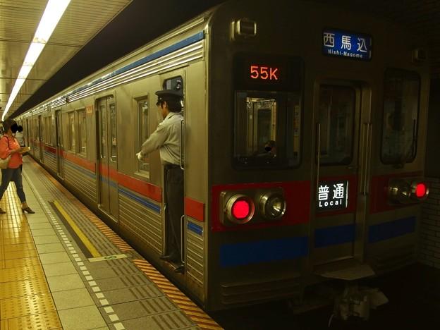 都営浅草線東銀座駅1番線 京成3678F普通西馬込行き停止位置よし