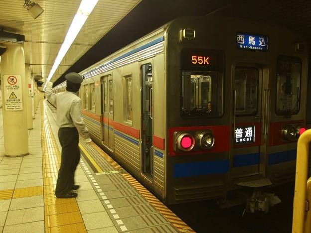 都営浅草線東銀座駅1番線 京成3678F普通西馬込行き側面よし