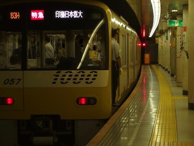 都営浅草線人形町駅4番線 京急1057F特急印旛日本医大行き前方確認(2)