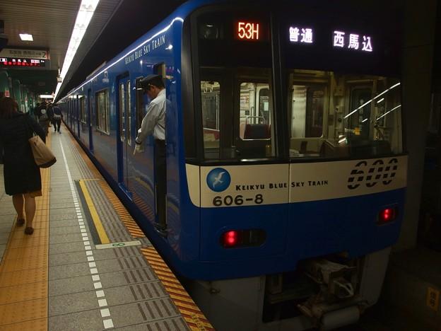 都営浅草線泉岳寺駅2番線 京急606F普通西馬込行き停止位置よし