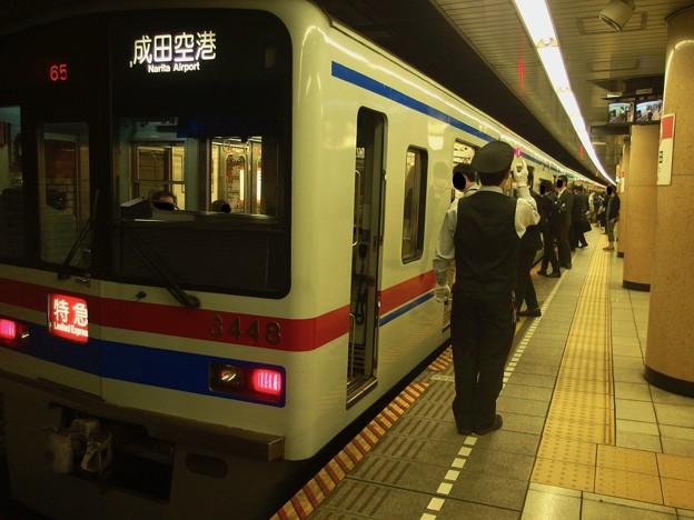 都営浅草線三田駅2番線 京成3448F特急成田空港行き