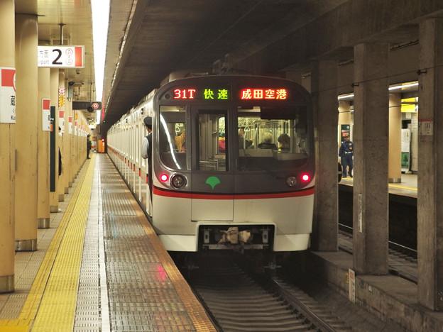 都営浅草線蔵前駅2番線 都営5313F快速成田空港行き前方確認