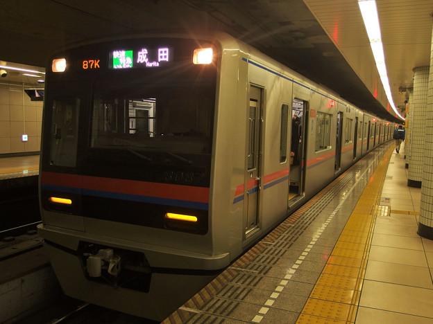 都営浅草線本所吾妻橋駅2番線 京成3037F快速特急成田行き