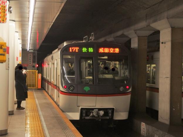 都営浅草線宝町駅2番線 都営5310F快速特急成田空港行き(2)