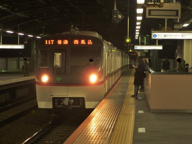 京成押上線四ツ木駅1番線 都営5309F普通西馬込行き進入