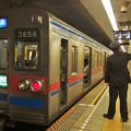 都営浅草線五反田駅2番線 京成3658快速特急成田行きベル扱い