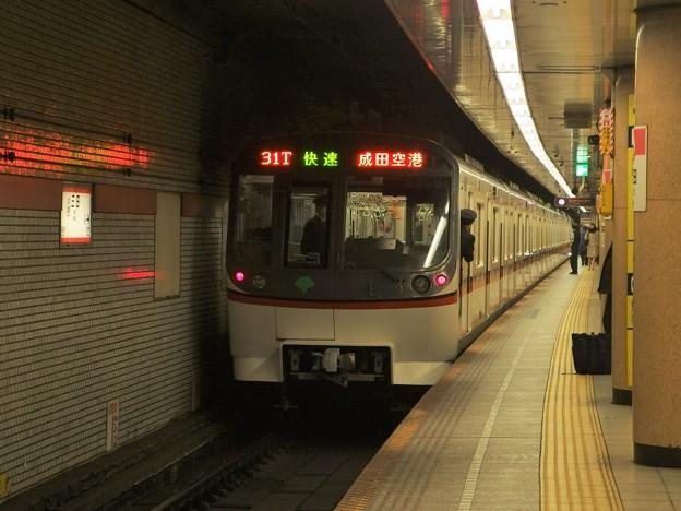 都営浅草線三田駅2番線 都営5306F快速成田空港行き前方確認
