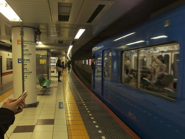 京成線押上駅4番線 京急606Fブルースカイトレイン前方確認