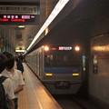京急線泉岳寺駅1番線 京成3051Fエアポート快特羽田空港行き進入