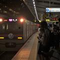京成線千住大橋駅3番線 京成3028F(相互直通50周年記念HM)快速佐倉行き進入