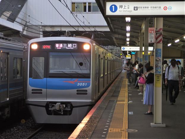 京成押上線立石駅1番線 京成3051F普通三崎口行き進入