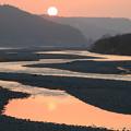 Photos: 大井川の夕景