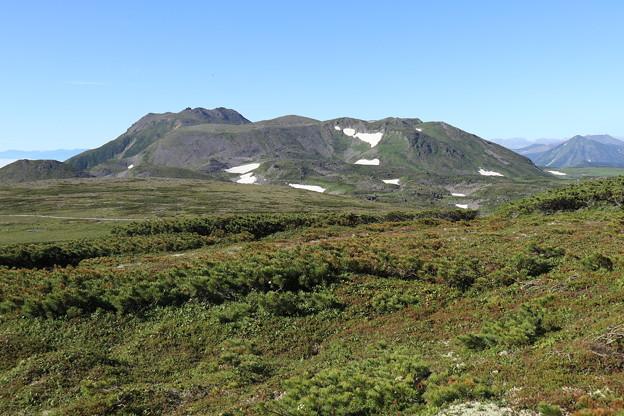 化雲岳山頂からトムラウシを望む