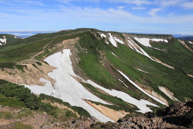 化雲岳から小化雲岳へと続く稜線