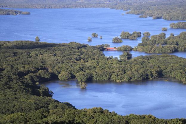 日暮山展望台から大沼公園を望む