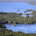 写真: 日暮山展望台から大沼公園を望む