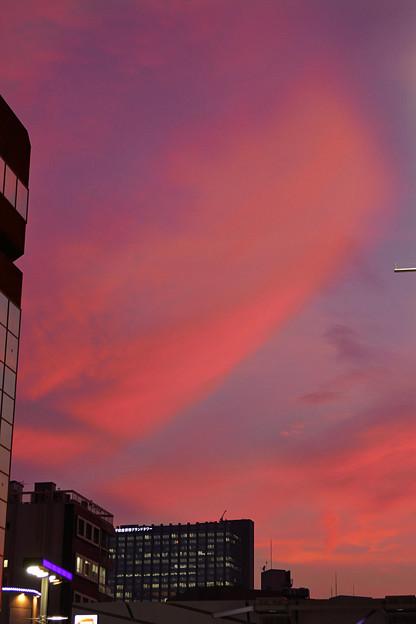 新宿の夕焼け