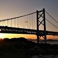 朝の瀬戸大橋を渡る