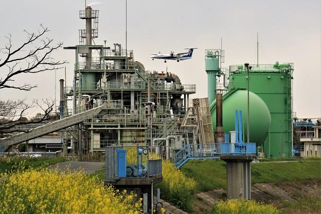 工場と飛行機