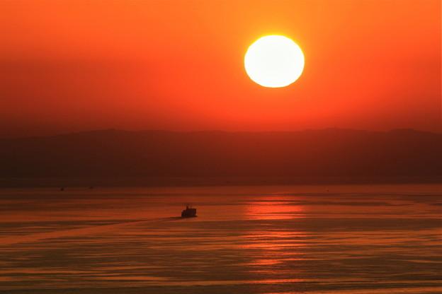 夕方の出航