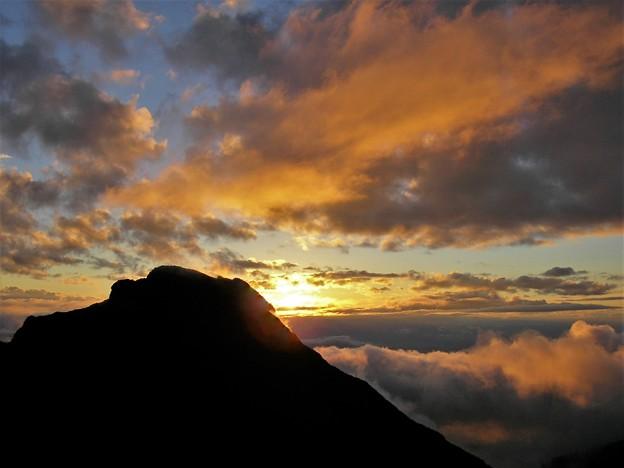 八ヶ岳の日没