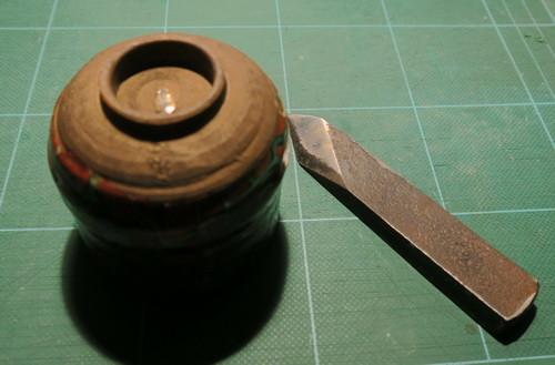 木米の茶碗と切り出し