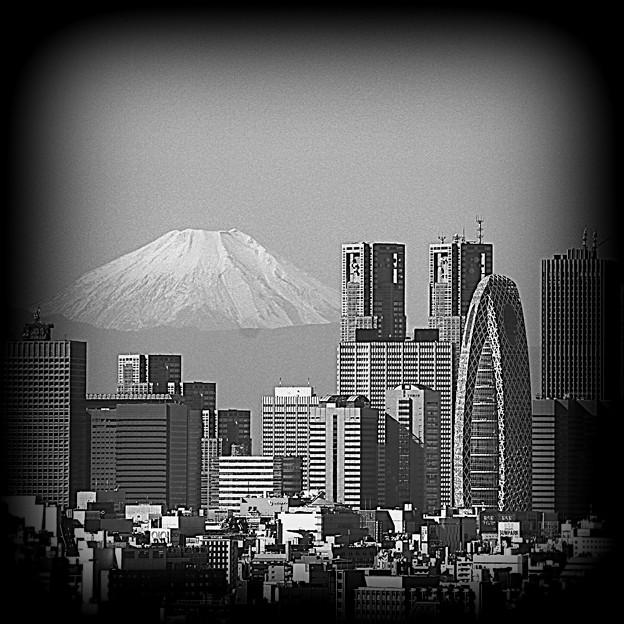 十月二十二日 富士山も冬化粧