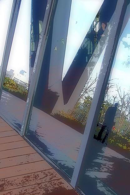 ガラスの中と外