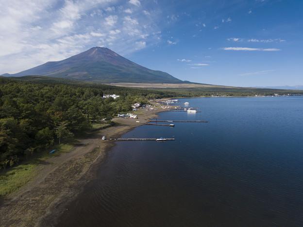写真: 山中湖とフジヤマ