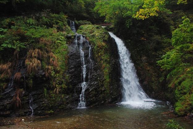 銀山温泉~朝~白銀の滝