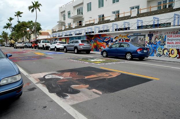 写真: Chalk Art 1-28-18